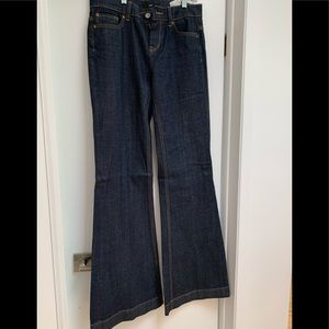 Boss 27/34 low ris bottom flare jeans